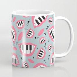 Piano smile pattern in grey&pink Coffee Mug