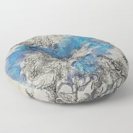 Mists of the Abyss Floor Pillow