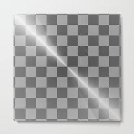 Bright Polished Titanium Metal Chess Board Metal Print