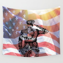 Thankful For Their Service Wall Tapestry