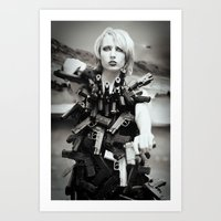 guns Art Prints featuring Guns by Pedro E Bauza