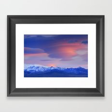 Lenticular clouds over Sierra Nevada National Park Framed Art Print