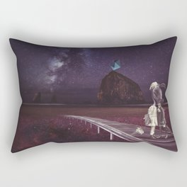 Kiss of love in space Rectangular Pillow