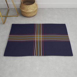 Filigree Retro Colored Lines Rug
