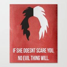 Disney Villain - Cruella De Vil Canvas Print