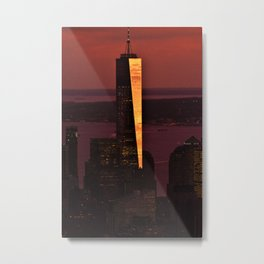 World Trade Sunset Metal Print
