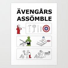 Superheroes Assembling - Colour Art Print
