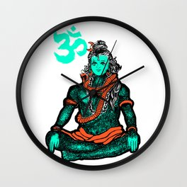 """Lord Shiva""colors Wall Clock"