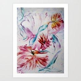 Asters Art Print