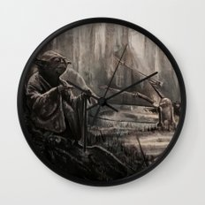 Yoda on Dagobah Wall Clock