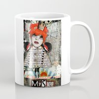 "courage Mugs featuring ""Courage"" by Crow's Feet Designs2"