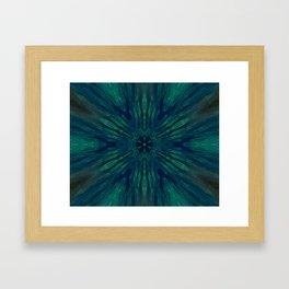 Blue Green Marine Flower Framed Art Print