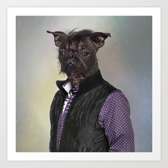 Hairless Dog Mix French Bulldog Chinese Crested Dog Art Print By Lifeonwhitecreative Society6
