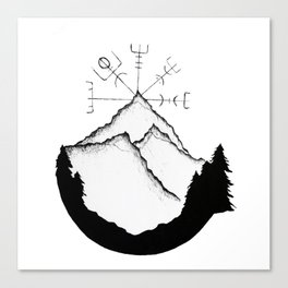Mountain Compass Canvas Print