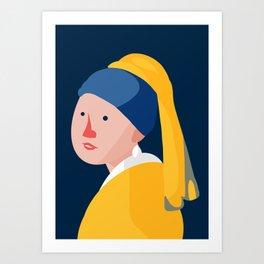 Cute With Pearl Earring Art Print