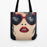 bmw Tote Bags featuring BMW Girl by Seventy Two Studio
