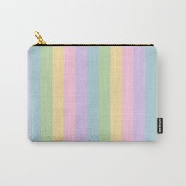 Pastel Rainbow Stripes - vertical Carry-All Pouch