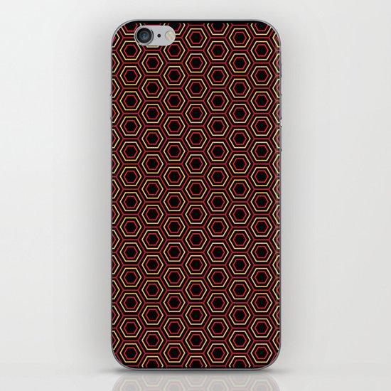 Hexagon Pattern in Red iPhone & iPod Skin