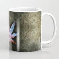marijuana Mugs featuring Marijuana Leaf - Design 2 by Spooky Dooky