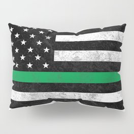 Thin Green Line Flag Pillow Sham