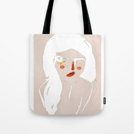 'messy hair' Tote Bag