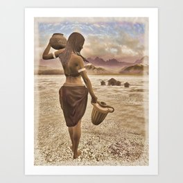 The Water Carrier Art Print