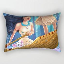 Pocahontas & Moana Rectangular Pillow