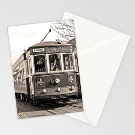 Trolley Streetcar Stationery Cards