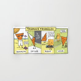 The Daily Drawing Comic – Infamous Triangles Hand & Bath Towel