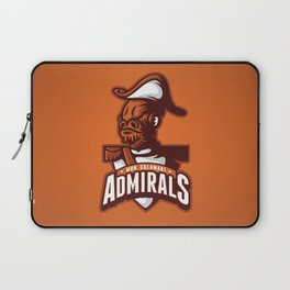 Mon Calamari Admirals on Orange Laptop Sleeve
