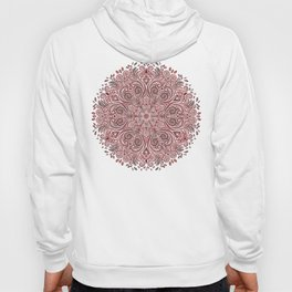 Red Ornate Pattern with 3D effect Hoody