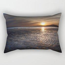 Aberavon beach sunset Rectangular Pillow