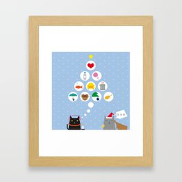 Santa Cat Framed Art Print