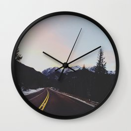 Rocky Mountains Wall Clock