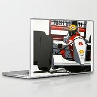 senna Laptop & iPad Skins featuring AYRTON SENNA- MONACO GRAND PRIX by MATT WARING