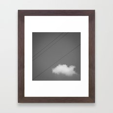 String & Cloud Framed Art Print