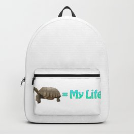 My Sulcata = My Life Backpack
