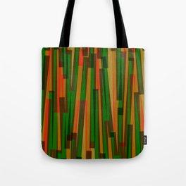 Geometric Orange Green Yellow Painting Tote Bag