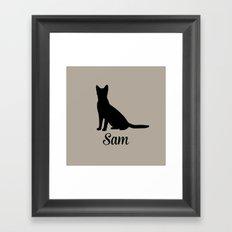 Cat pillow Framed Art Print