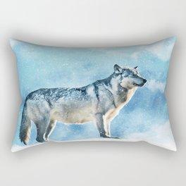 Artic Wolf Rectangular Pillow