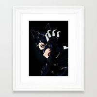 returns Framed Art Prints featuring Catwoman Returns  by LARiozzi