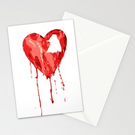 B/ood Heart Stationery Cards
