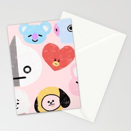 BTS21 Characters in Pastel Stationery Cards