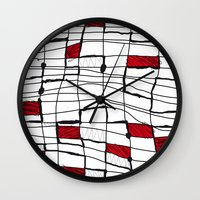 text Wall Clocks featuring text by Ivano Nazeri
