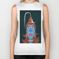 transformer Biker Tanks featuring Lord Shiva - Transformer or Destroyer by quackdesigns