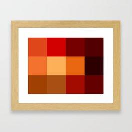BLOCKS - RED TONES - 2 Framed Art Print