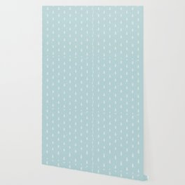 Christmas Trees Pattern Light Blue Wallpaper