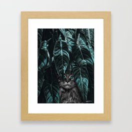 furr you, cat lovers. Framed Art Print