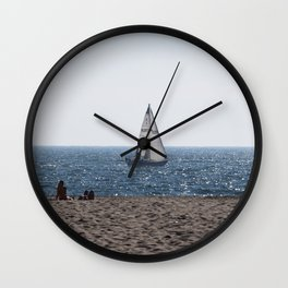 Sailing the LA Coast Wall Clock