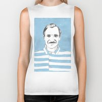 the grand budapest hotel Biker Tanks featuring Ralph Fiennes. The Grand Budapest Hotel.  by Elena O'Neill